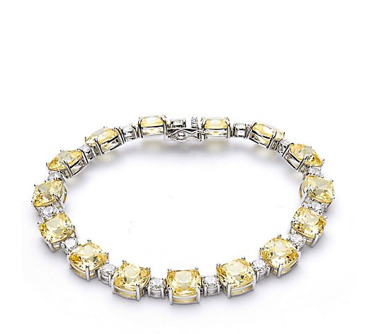 Michelle Mone for Diamonique 25ct tw 19cm Bracelet Sterling Silver