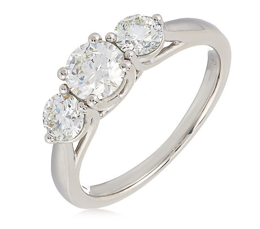 1.50ct H SI2 Fire Light Lab Grown Diamond Brilliant Cut Trilogy Ring 18ct Gold