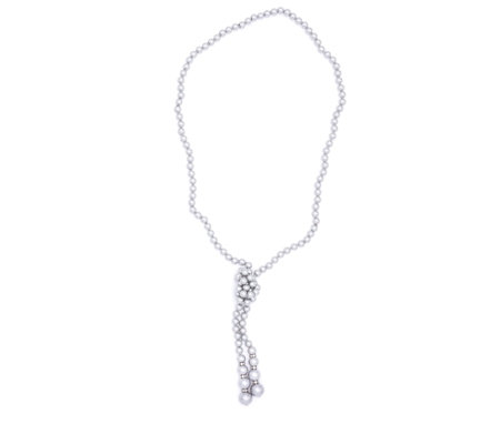 Frank Usher Simulated Pearl Knot Necklace
