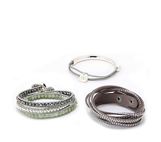 Boho Betty Three Piece Wrap Bracelet Stack