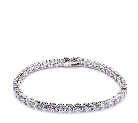 Diamonique 14ct - 22ct tw Choice of Cuts Tennis Bracelet Sterling Silver