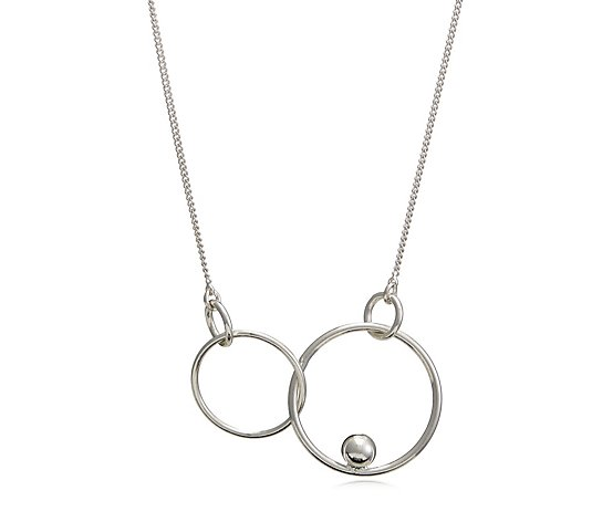 Pilgrim Interlocking Circles Suspended Ball 32cm Necklace