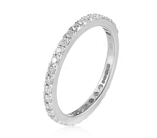 0.50ct Diamond 3/4 Claw Eternity Ring 9ct Gold