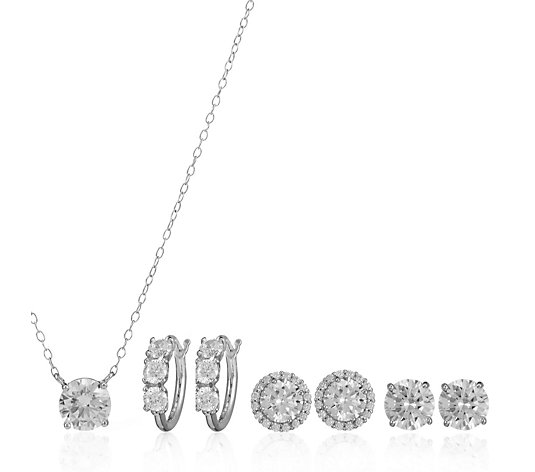 Diamonique 8.3ct tw Essentials Set Sterling Silver