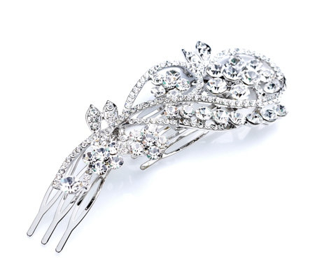 loveRocks Crystal Trailing Flower Hair Piece