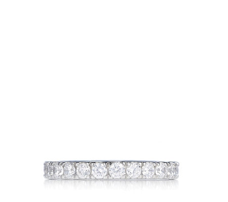 Diamonique 1.3ct tw Full Eternity Ring Sterling Silver