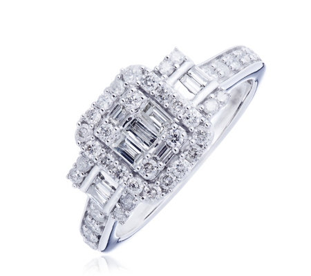 1.00ct Diamond Mixed Cut Trilogy Ring 14ct Gold