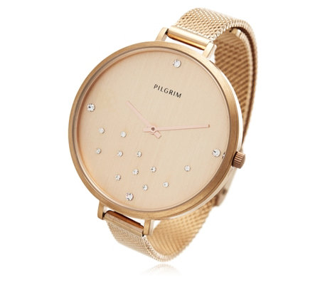 Pilgrim Scattered Crystal Mesh Watch