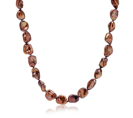 Honora 12-13mm Cultured Keshi Pearl 45cm Necklace Sterling Silver