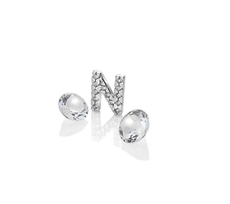Anais Initial N Charm Sterling Silver
