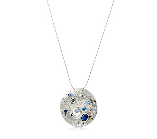 Diamonique by Tova 4.6ct tw Galaxy Pin Pendant & Chain