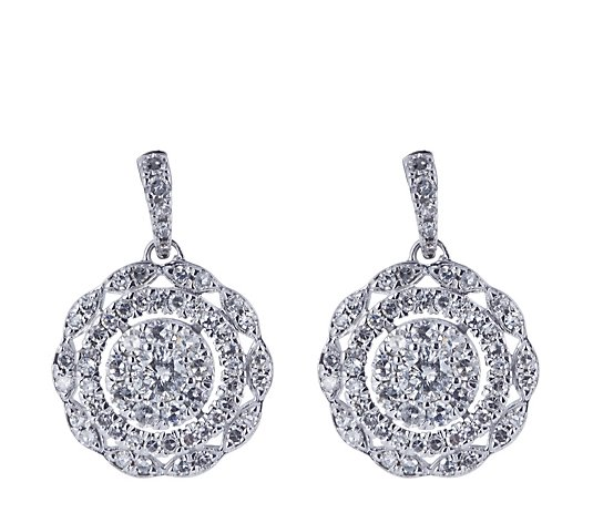 1.00ct Diamond Estate Collection Drop Earrings 14ct Gold