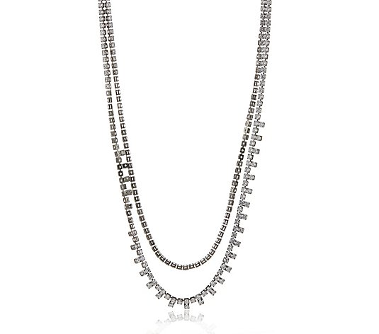 Butler & Wilson Two Strand Crystal Necklace