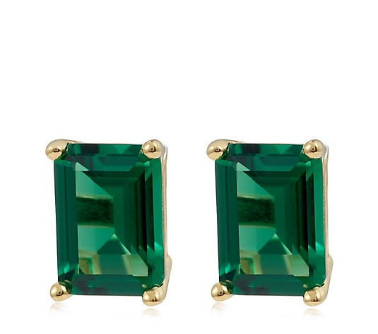 Escape by Melissa Odabash Emerald Cut Studs Sterling Silver