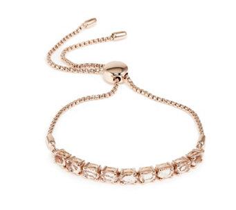 2 9ct Oval Gemstone F Ship Bracelet Gold Vermeil Sterling Silver 307417