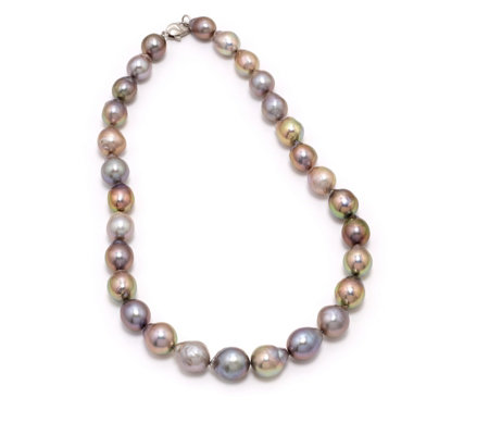 Honora 11-14mm Cultured Ming Pearl 45cm Necklace Sterling Silver