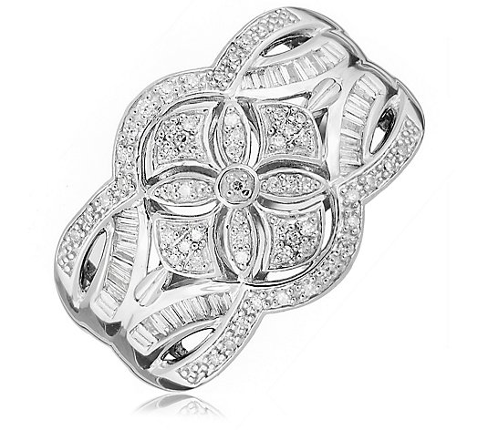 0.33ct Diamond Vintage Style Estate Collection Band Ring Sterling Silver