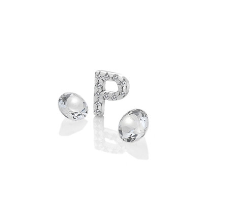 Anais Initial P Charm Sterling Silver
