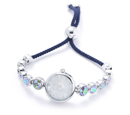 Aurora Swarovski Crystal Friendship Bracelet Watch