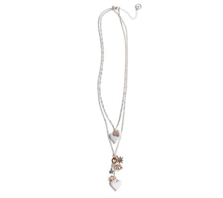 Bibi Bijoux Multi Heart Charm Layered 80cm Necklace