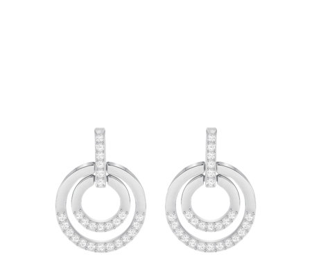Swarovski Circle Earrings