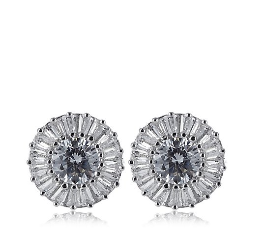 Michelle Mone for Diamonique 2.4ct tw Brilliant Cut Earrings Sterling Silver