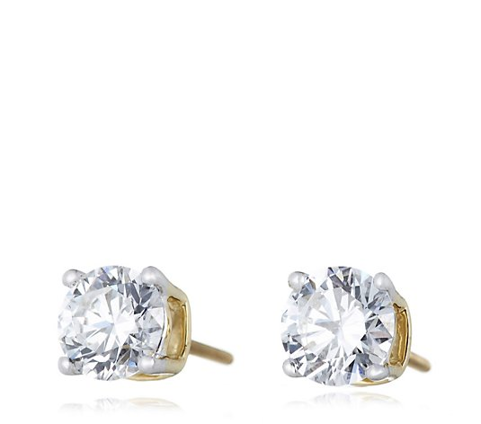 1.50ct H SI2 Fire Light Lab Grown Diamond Screw Back Stud Earrings 18ct Gold