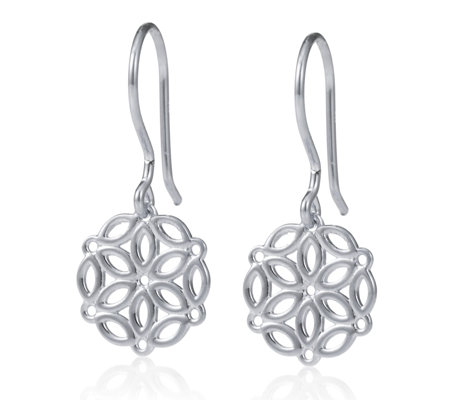 K by Kelly Hoppen Capri Collection Drop Earrings Sterling Silver