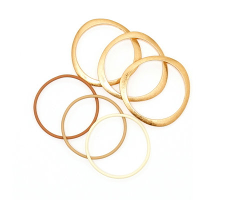 MarlaWynne Set of 6 Bangle Bracelets