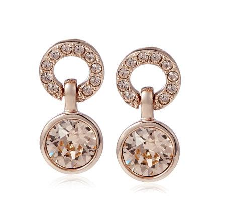 Aurora Swarovski Crystal Stud Earrings Qvc Uk