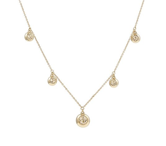 Aurora Swarovski Crystal Five Stone Station 51cm Necklace
