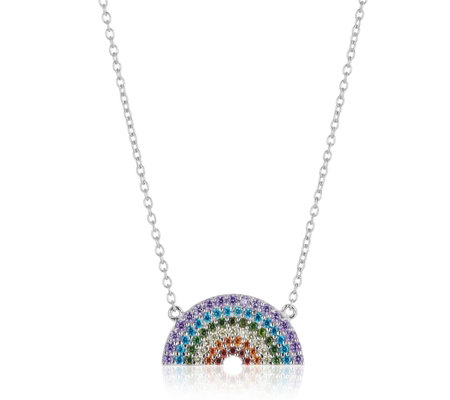 Ophia Over the Rainbow 45cm Necklace Sterling Silver