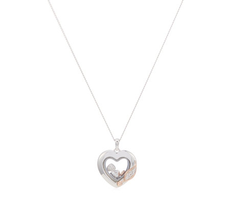 Clogau 9ct Rose Gold & Sterling Silver Inner Charm Heart Pendant