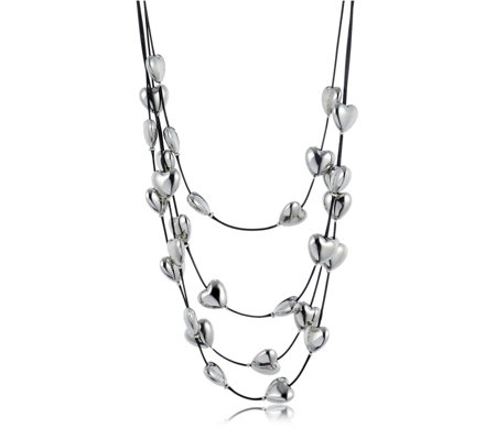 Frank Usher Multi Row Heart 48cm Necklace