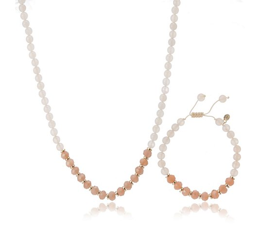 Lola Rose Ledger Semi Precious Necklace & Bracelet Set