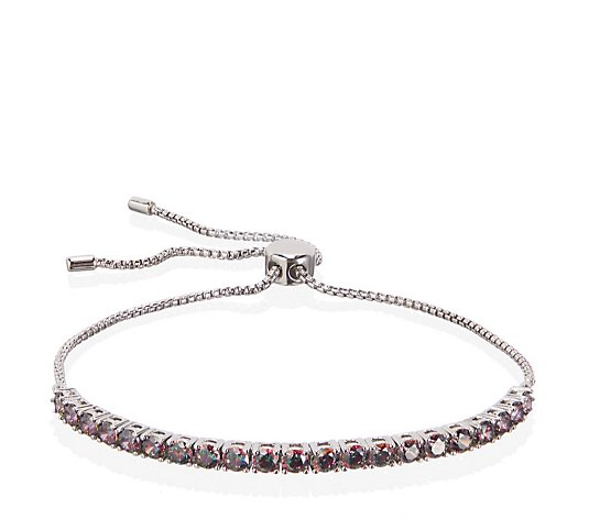 Diamonique 2ct tw Simulated Gemstone Bracelet Sterling Silver