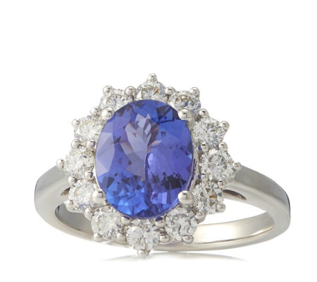 Special Edition 2.75ct AAA Tanzanite & 1ct Diamond Ring 18ct Gold