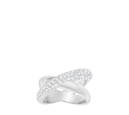 cd30da104 Swarovski Crystal Dust Cross Ring - QVC UK