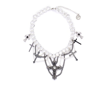 Bibi Bijoux Chunky Cross 47cm Necklace