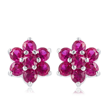 Diamonique 1.4ct tw Simulated Gemstone Earrings Sterling Silver