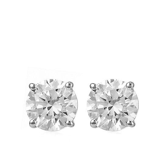 Diamonique 1ct Tw Stud Earrings 9ct Gold Qvc Uk