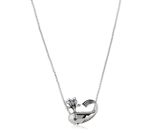 Butler & Wilson Crystal Whale Necklace