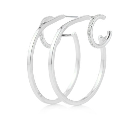 Pilgrim Double Hoop Earrings