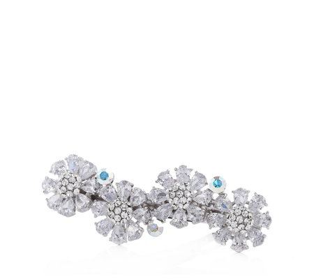 Butler & Wilson Four Crystal Flowers Hairclip