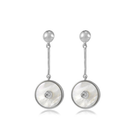 Kelly Hoppen Mother of Pearl Drop Earrings Sterling Silver