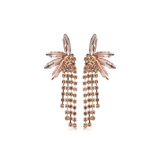 Loverocks Crystal Tassel Earrings