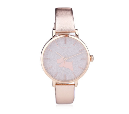 Radley London Ombre Glitter Leather Strap Watch