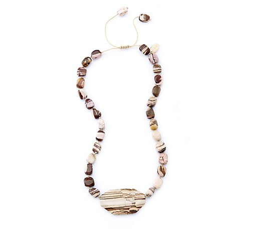 Lola Rose Marti Semi Precious Bead 42cm Necklace