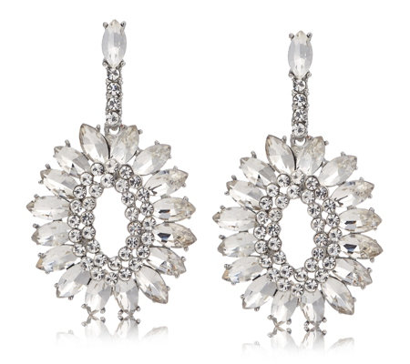 LoveRocks Crystal Round Drop Earrings
