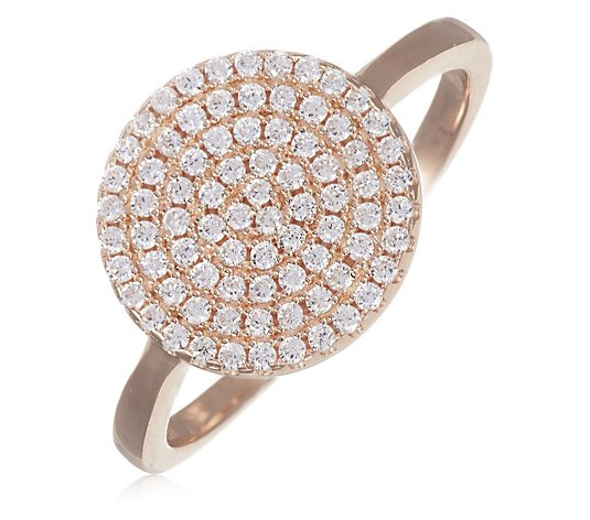 Escape by Melissa Odabash Pave Circle Ring Sterling Silver